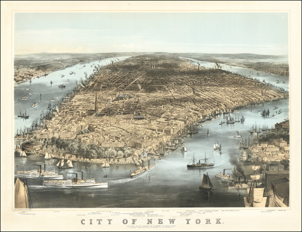 56-New York City Map By C. Parson