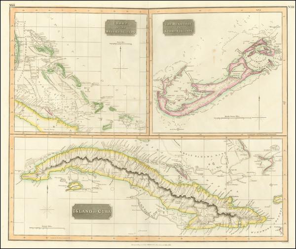 12-Cuba, Bahamas and Bermuda Map By John Thomson