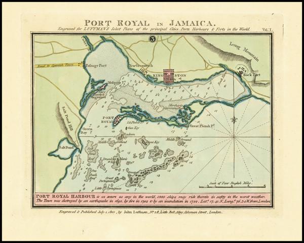 52-Jamaica Map By John Luffman