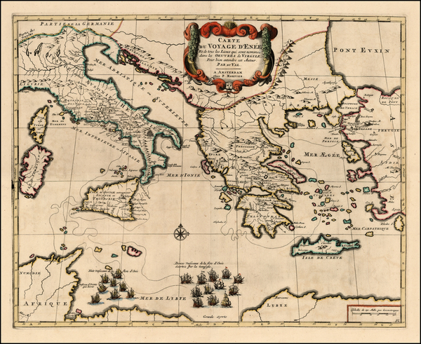 49-Europe, Italy, Greece, Mediterranean and Balearic Islands Map By Pieter Mortier