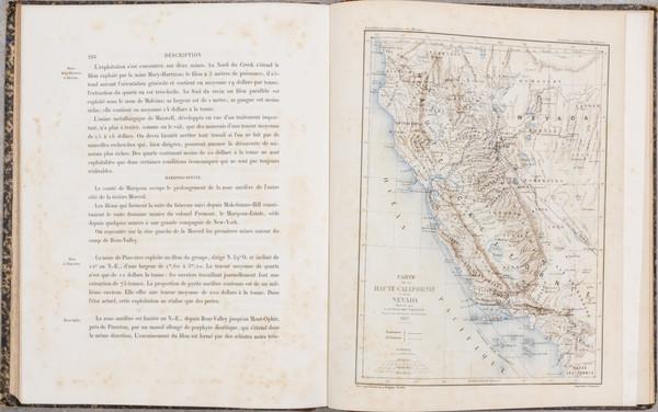 66-Southwest, Nevada, California and Rare Books Map By Edmond Guillemin-Tarayre