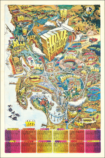12-Pictorial Maps and San Diego Map By Darrel Millsap