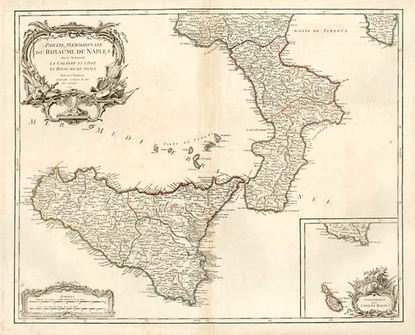 10-Europe, Italy, Mediterranean and Balearic Islands Map By Gilles Robert de Vaugondy