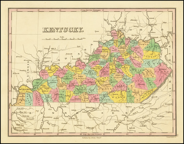 81-Kentucky Map By Anthony Finley