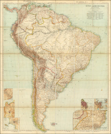 21-South America Map By Augustus Herman Petermann