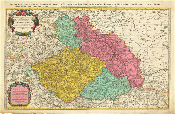 90-Germany, Poland and Czech Republic & Slovakia Map By Alexis-Hubert Jaillot