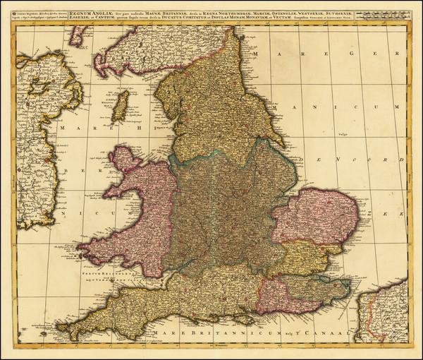 54-England Map By Valk & Schenk