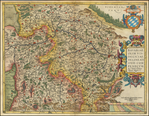 25-Germany Map By Abraham Ortelius