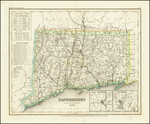 92-Connecticut Map By Joseph Meyer
