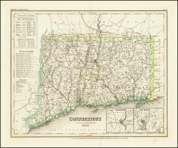 99-Connecticut Map By Joseph Meyer
