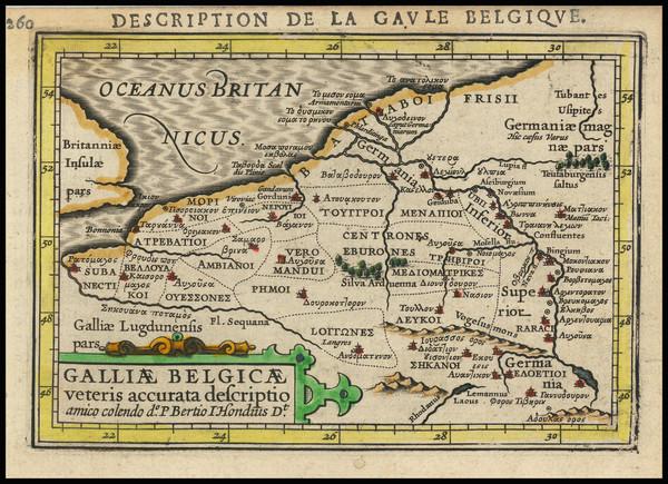 33-Belgium and Luxembourg Map By Petrus Bertius