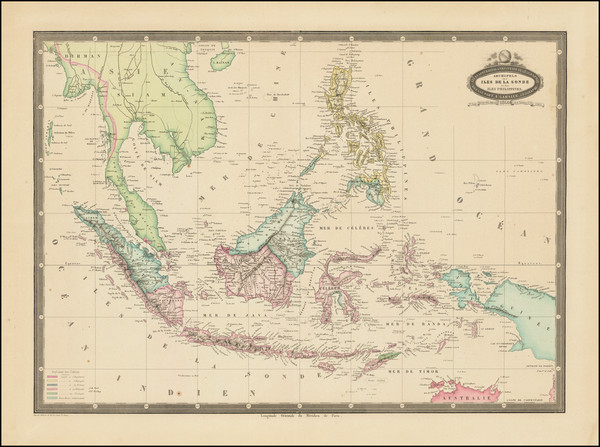 5-Southeast Asia, Philippines, Indonesia, Malaysia and Thailand, Cambodia, Vietnam Map By F.A. Ga