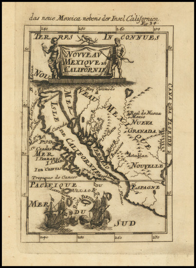 22-Baja California and California Map By Alain Manesson Mallet