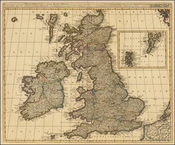 24-British Isles Map By Gerard & Leonard Valk
