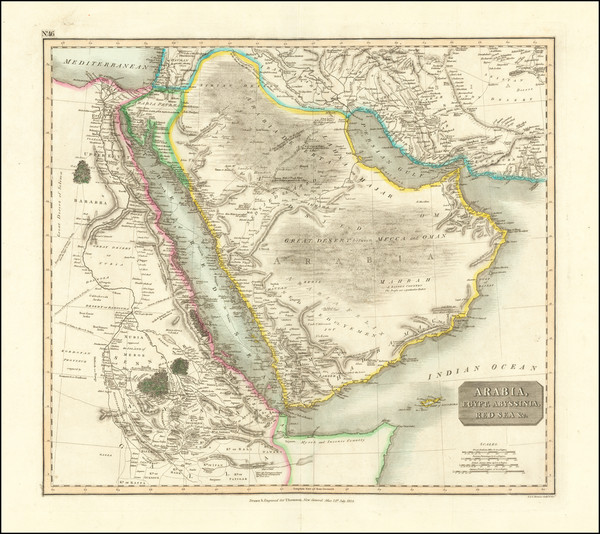 59-Middle East and Arabian Peninsula Map By John Thomson