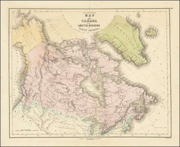 52-Polar Maps, Alaska and Canada Map By Gall  &  Inglis