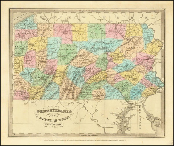 79-Pennsylvania Map By David Hugh Burr