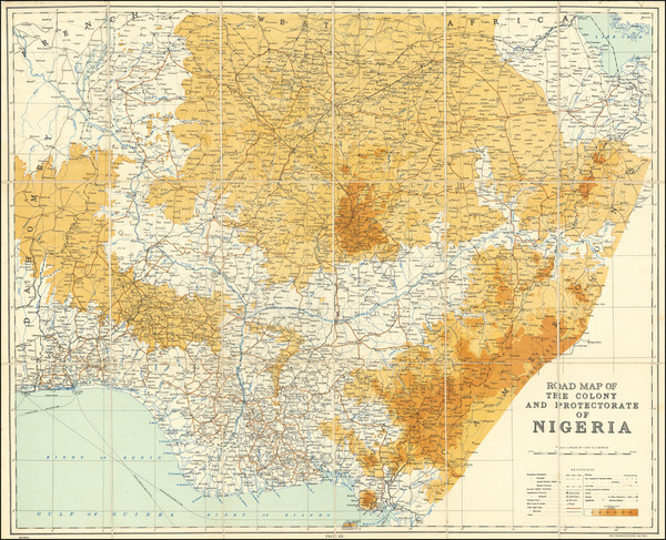 80-West Africa Map By Survey Department, Nigeria