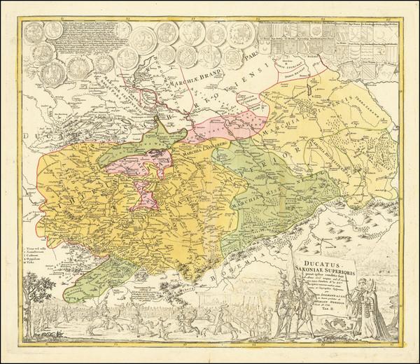 86-Mitteldeutschland Map By Homann Heirs / Friedrich Zollmann