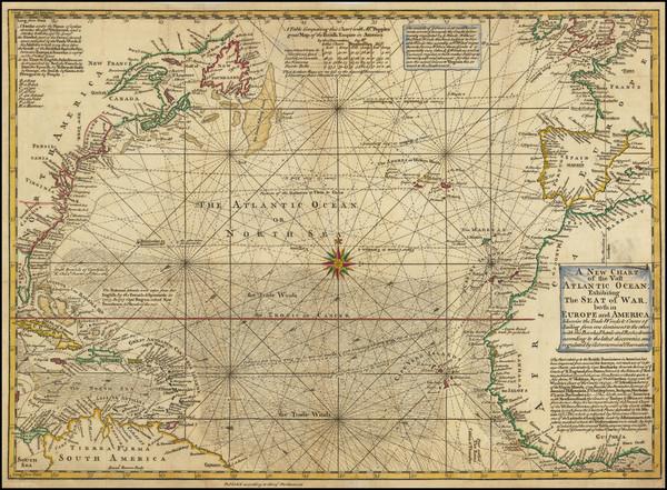 79-Atlantic Ocean Map By Emanuel Bowen