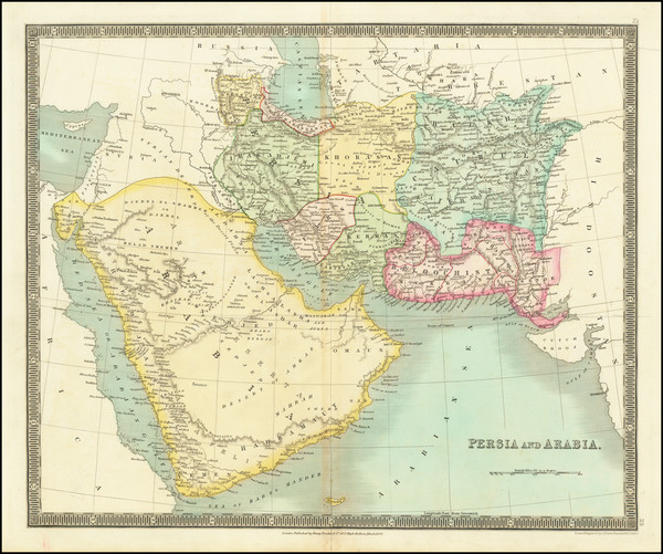99-Middle East, Arabian Peninsula and Persia Map By Henry Teesdale