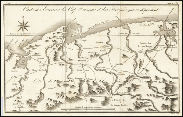 86-Hispaniola Map By Jacques Nicolas Bellin / Porlier