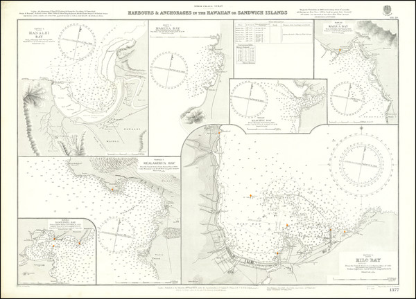 86-Hawaii and Hawaii Map By British Admiralty