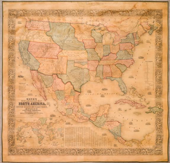 79-United States and North America Map By Jacob Monk