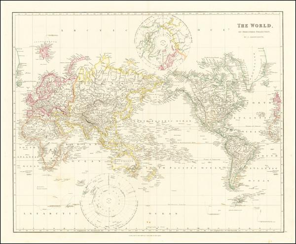 60-World Map By John Arrowsmith