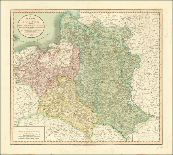 34-Poland and Baltic Countries Map By John Cary