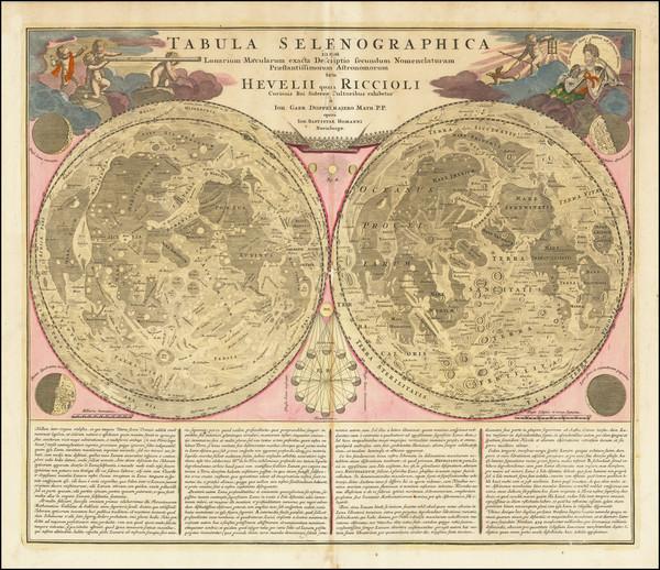 85-Celestial Maps Map By Johann Baptist Homann