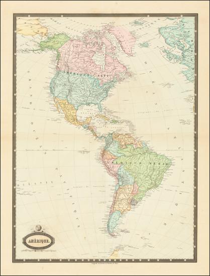 96-America Map By F.A. Garnier