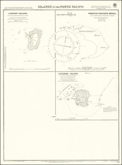 15-Hawaii and Hawaii Map By British Admiralty