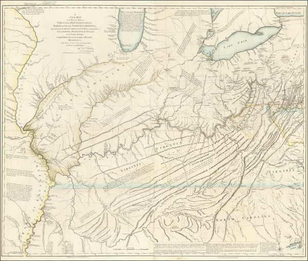 83-Kentucky, Tennessee, Virginia, Midwest, Illinois, Indiana and Ohio Map By Thomas Hutchins
