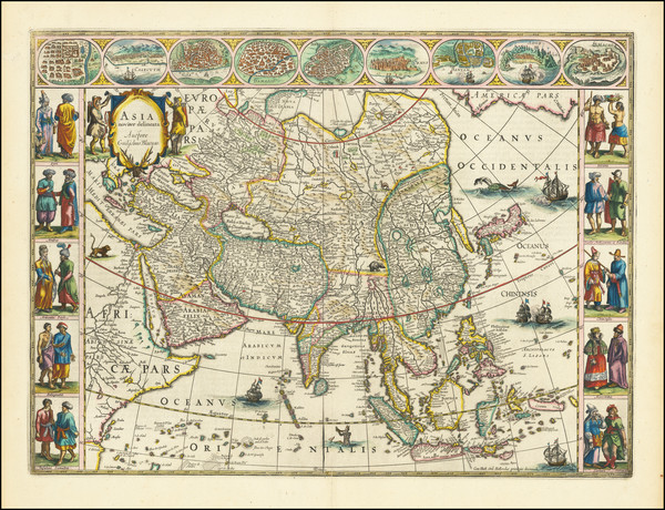 8-Asia Map By Willem Janszoon Blaeu