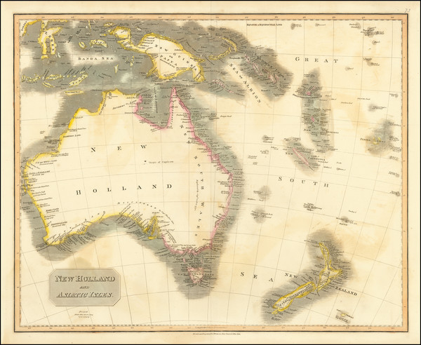 71-Australia Map By John Thomson