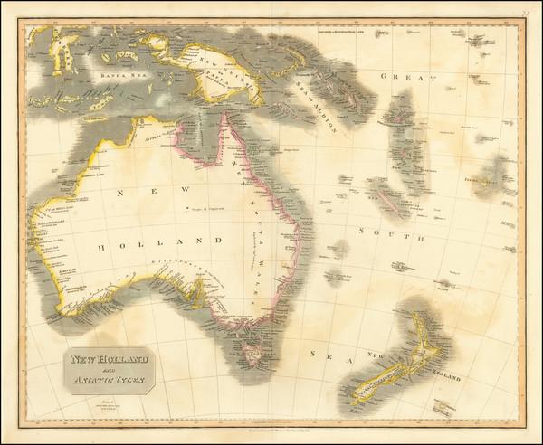 47-Australia Map By John Thomson