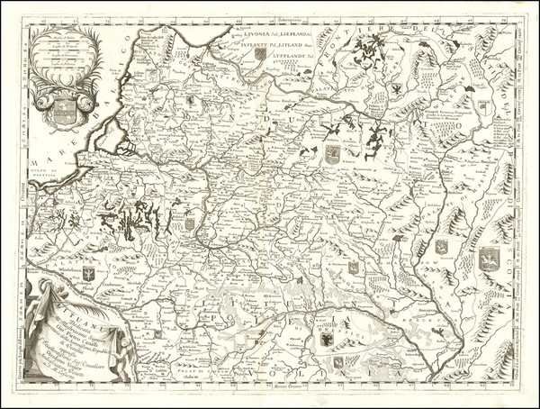 24-Baltic Countries Map By Vincenzo Maria Coronelli