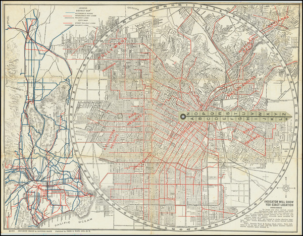 94-Los Angeles Map By George Clason