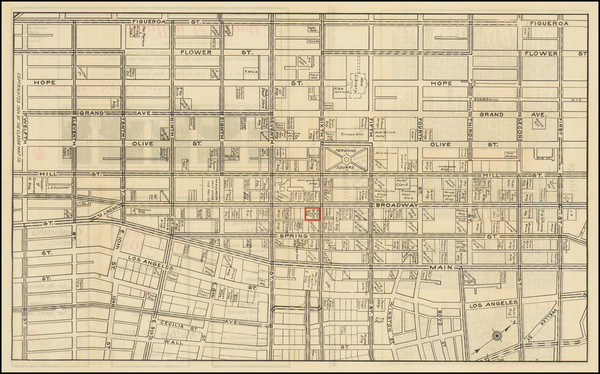 6-Los Angeles Map By The Clason Map Company