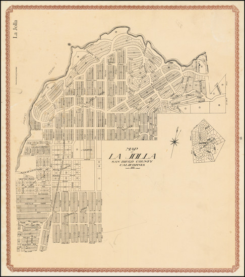 4-San Diego Map By William E. Alexander