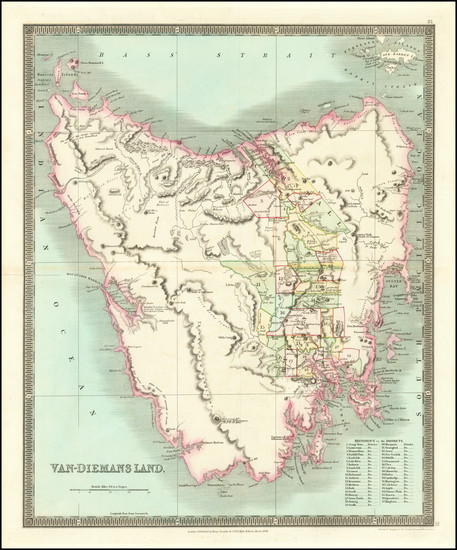 24-Australia Map By Henry Teesdale