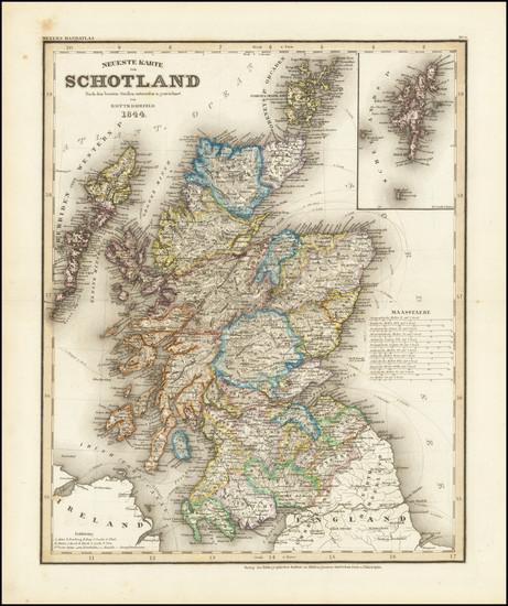 67-Scotland Map By Joseph Meyer