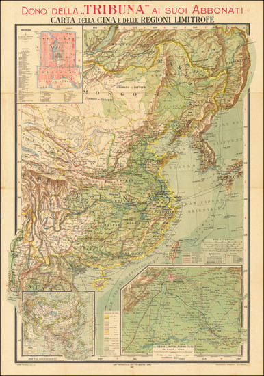 55-China Map By Giovanni De Agostini