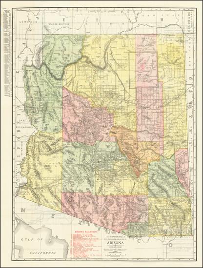 98-Arizona Map By Rand McNally & Company