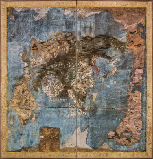 23-World and Japan Map By Koyano Ishun