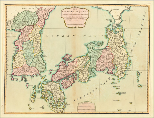 21-Japan and Korea Map By Laurie & Whittle