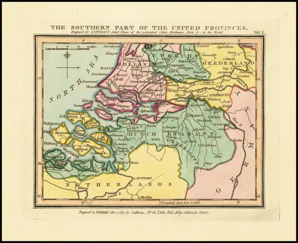 23-Netherlands Map By John Luffman