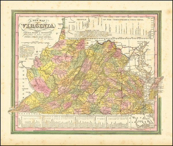 79-West Virginia and Virginia Map By Henry Schenk Tanner