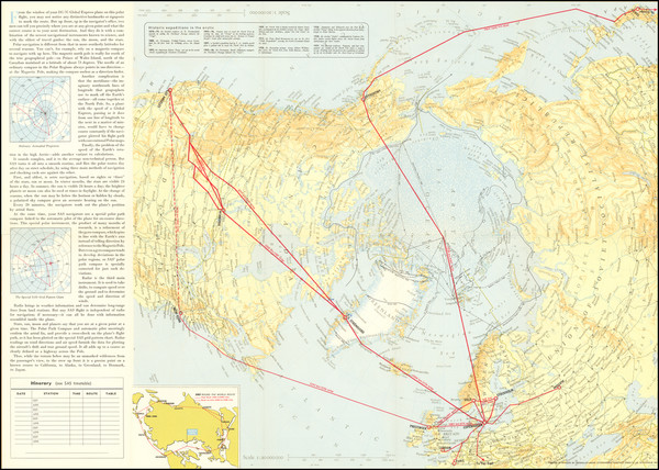 10-Polar Maps and Scandinavia Map By Scandinavian Airlines Systems